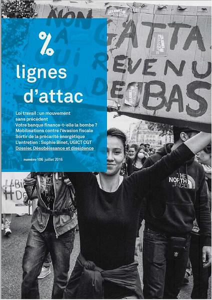 Lignes d'Attac, n°106, juillet 2016.