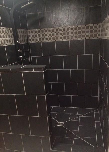 Black Shower 12 x 12