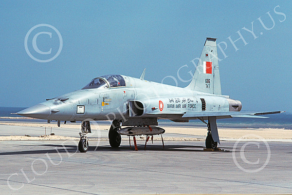 Bahrain Air Force Northrop F-5 Freedom Fighter Jet Fighter Airplane Pictures for Sale