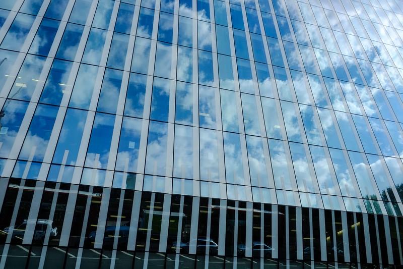 Modern building on Blackfriers Road, London, United Kingdom