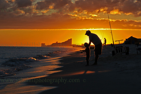 Father and Son Fishing At Perdido Key