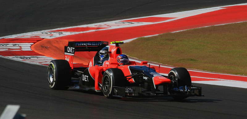 Charles Pic of France in one of the two Marussia cars.