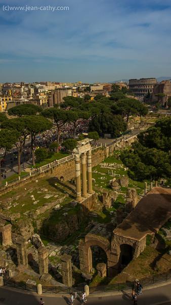 Roman Forum from the Emanuel Vitoros Monument