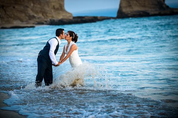 Maria and Daniel - Post Wedding Portraits / Trash the Dress Photography - Panther Beach, Santa Cruz, California