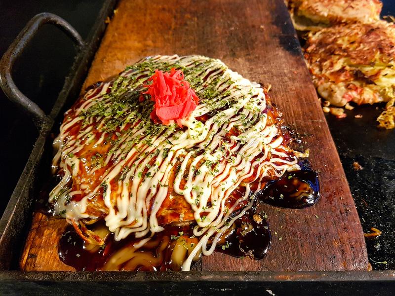 Okonomiyaki, Japanese style fried pancake