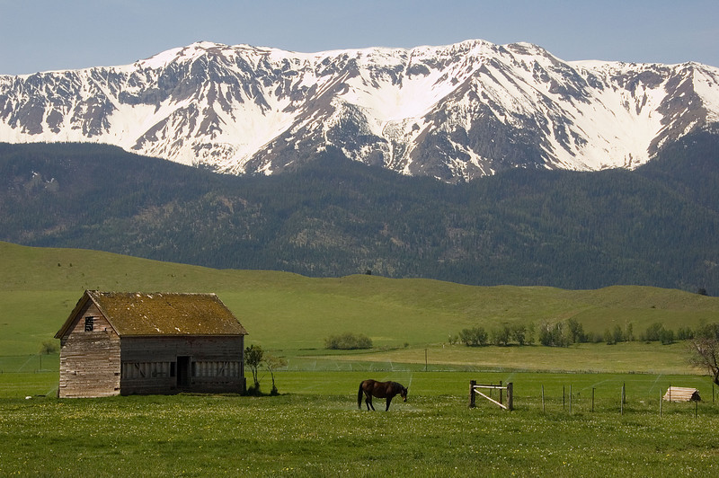 This is a shot of a farm just outside of Joseph, Oregon.