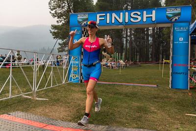 Donner Lake Tri Aquathon Finish