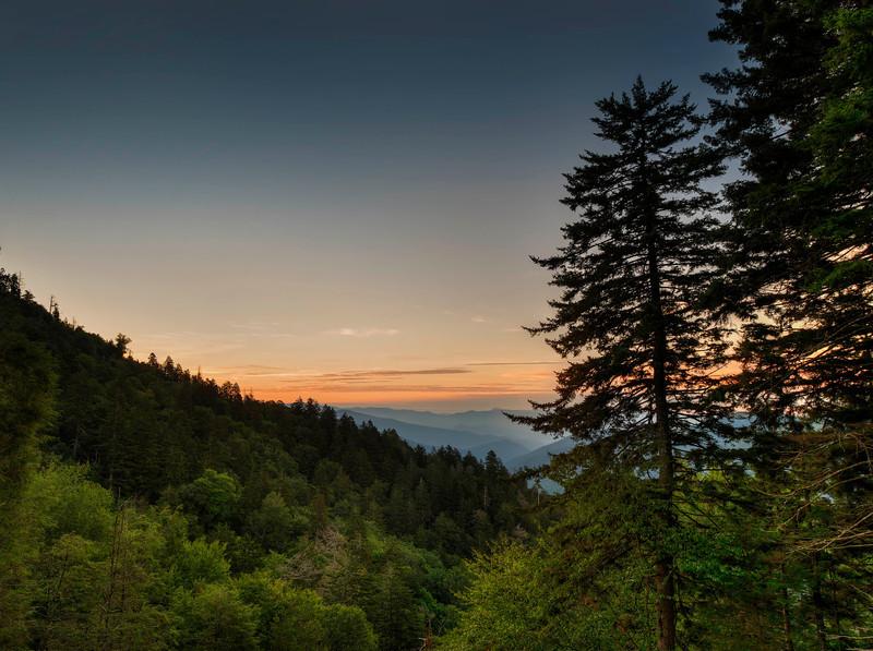 Smokey Mountains at sunrise - Gatlinburg overlook.jpg