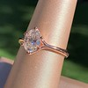1.05ct Oval Cut Diamond Solitaire, GIA H SI1 9
