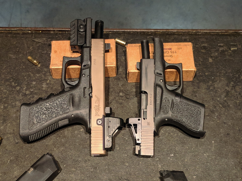 Shield RMS on Glock 43 (on the right)
