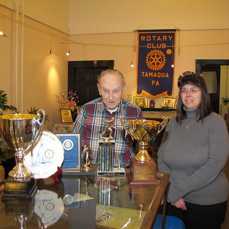 Rotary Club Display, Chamber of Commerce, Tamaqua (3-21-2012)