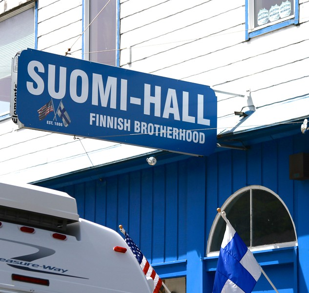 """Astoria has historically had a very large Finnish population centered around the fishing and canning industry.  Our Finnish Lapphund """"Onni"""" felt kind of close to his homeland up here.  There are beautiful Finnish crafts and food specialty stores here"""