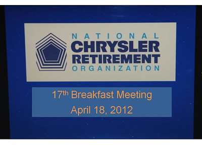 NCRO Meeting 2012 04 18