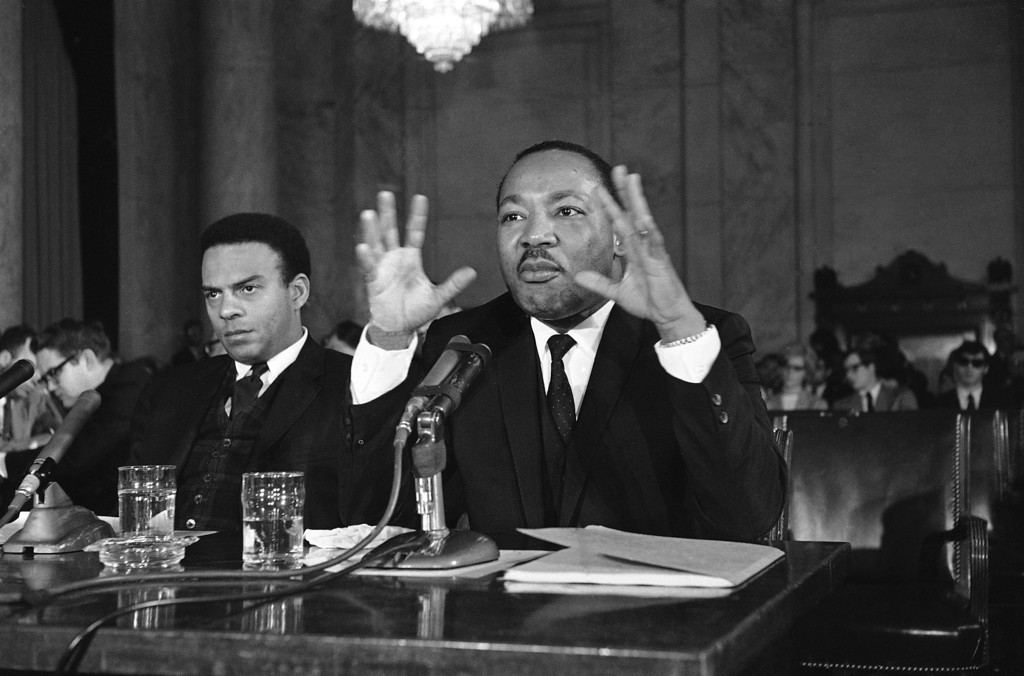 . Martin Luther King, Jr., says he confident he will get strong support his plan to raise an army of the poor a camp at the Nation�s Capital, March 2, 1968. He plans to camp with the poor in Washington in April for at least two weeks, demanding action by congress to provide jobs or income for the poor. (AP Photo)