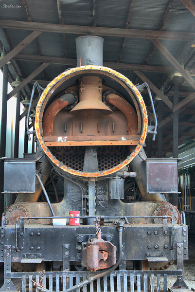 Details of the smokebox of class As 2-8-0 Consolidation #610