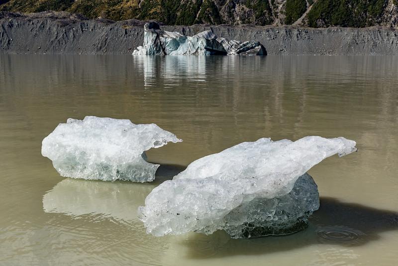 «Tasman Glacier»: Kleine und grosser Eisberg
