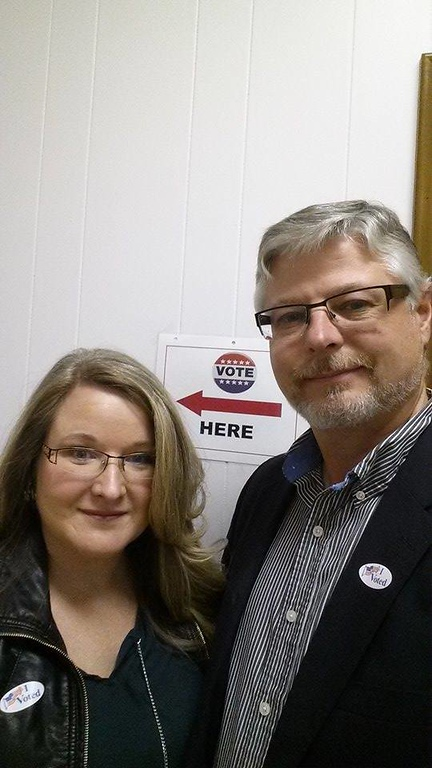 . Dave Lohmeier of Independence Township voted with his wife Beth Arrington Lohmeier.
