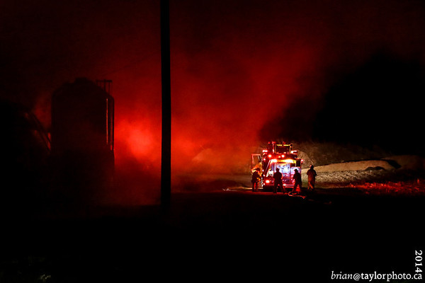 Structure Fire, Bond Rd. Waterville N.S. April 26, 2014