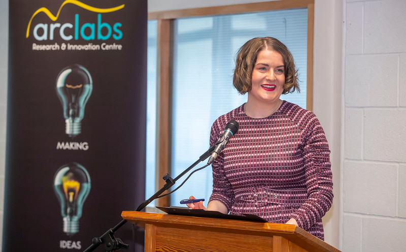 15/11/2019. FREE TO USE IMAGE. Pictured at the The official opening of the ArcLabs Research & Innovation Centre WIT extension, at Carriganore, Co Waterford. Pictured are Dr Aisling O'Neill, Manager at ArcLabs. Picture: Patrick Browne