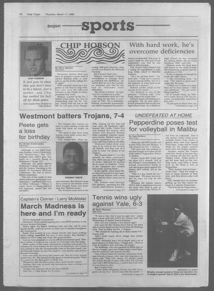Daily Trojan, Vol. 106, No. 46, March 17, 1988