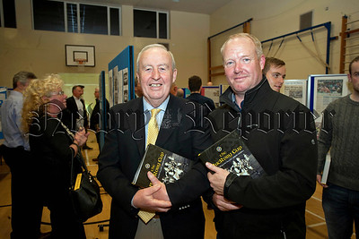 St Colman's College hosted the launch of the MacRory Cup book on Monday last,Ray Morgan,Benny Tierney.RS1448706