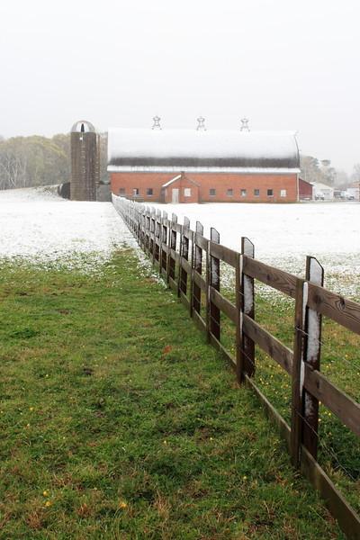 April snow on City Farm Park in Newport News, VA. © 2007 Kenneth R. Sheide