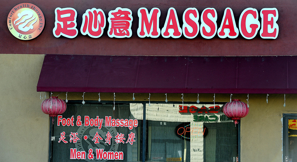 . Massage establishments on San Gabriel Boulevard in San Gabriel. City of San Gabriel received a report on massage establishments and  there are 52 of them in the small city Thursday, November 7, 2013. Photo by Walt Mancini/Pasadena Star-News)