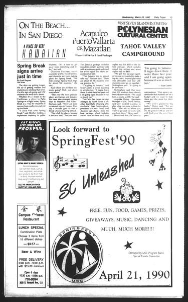 Daily Trojan, Vol. 111, No. 52, March 28, 1990