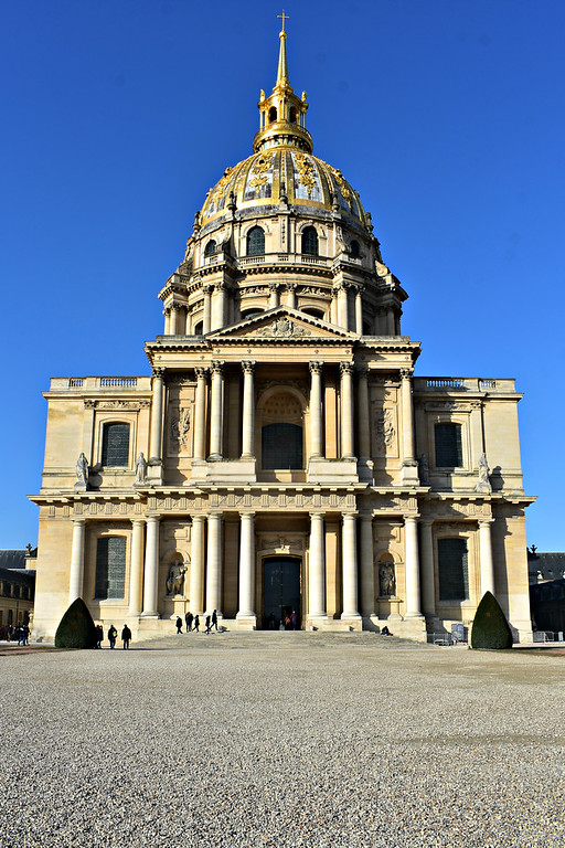 Exterior of Dôme des Invalides in Paris, France