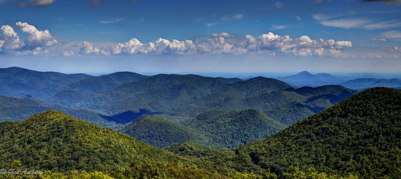 Mountain scene from Brasstown Bald, highest mountain in Georgia
