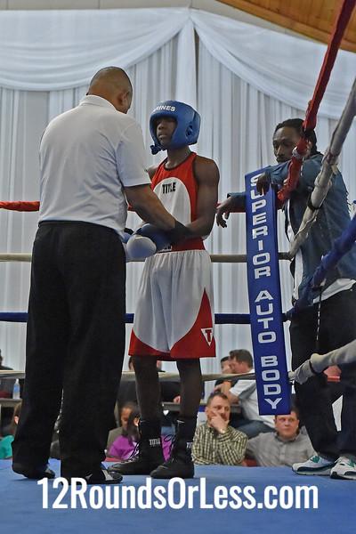 Bout #1:  Manny Johnson, Columbus, OH  vs  (J.O.) Jabreel Hawkins, Akron, OH  115 Lbs.