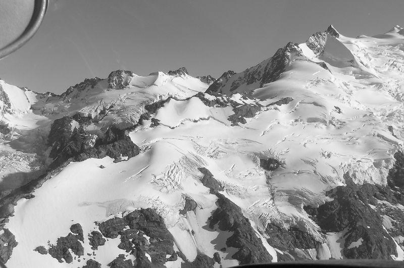 The De La Bache Ridge and Mt De La Bache. This was one of the climbs we tried to tackle. Its a grade 2 Alpine climb.