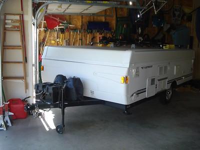 Moving Camper in 3 Stall Garage