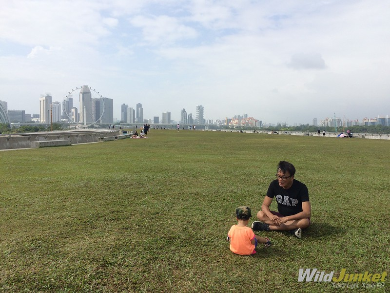 marina barrage green space - singapore family vacation