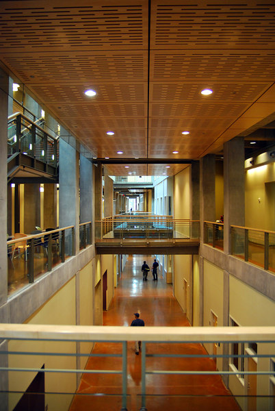 This is the interior of the French Science Center