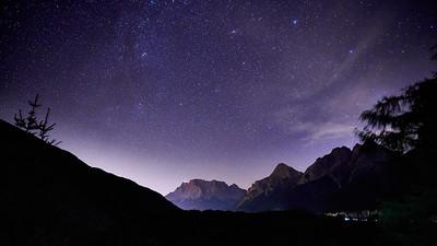 stars above zugspitze
