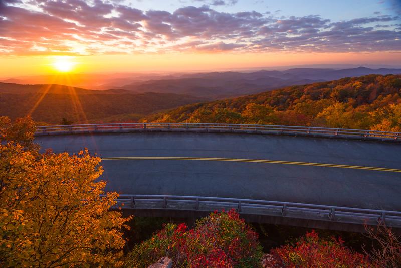 Linn Cove Viaduct sunrise