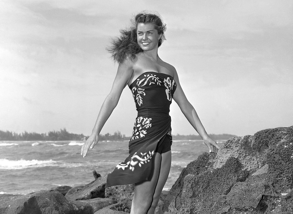 ". This May 1950 file publicity photo originally released by Metro-Goldwyn-Mayer shows Esther Williams on location for the film ""Pagan Love Song. According to a press representative, Williams died in her sleep on Thursday, June 6, 2013, in Beverly Hills, Calif.  She was 91.  (AP Photo/Metro-Goldwyn-Mayer, file)"