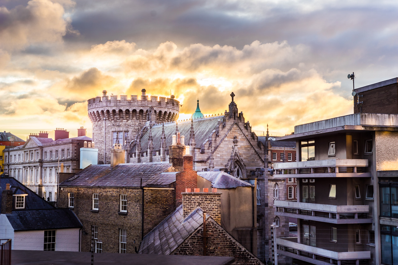 cost of living in ireland Image of Sunrise at Dublin Castle