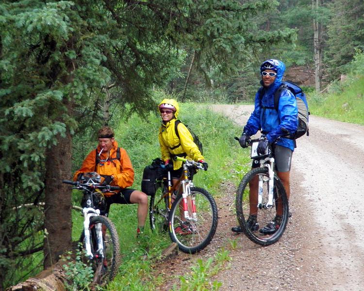 Day 1 Doug, Joni, Jean-Paul in the Rain