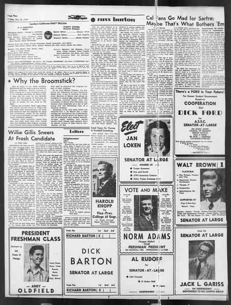 Daily Trojan, Vol. 39, No. 35, October 31, 1947