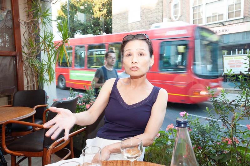 takako in La Gaffe Italian restaurant, Hampstead, NW3, London, United Kingdom