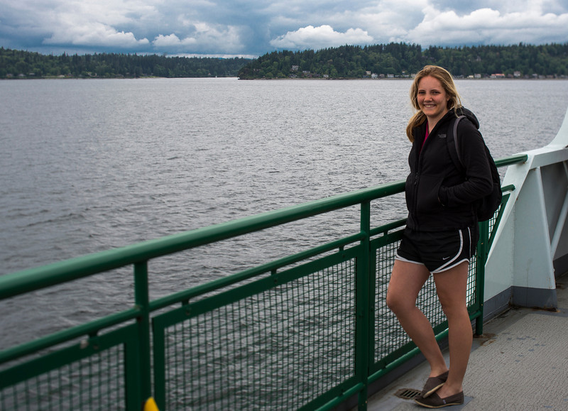 Emily on the Bainbridge Ferry