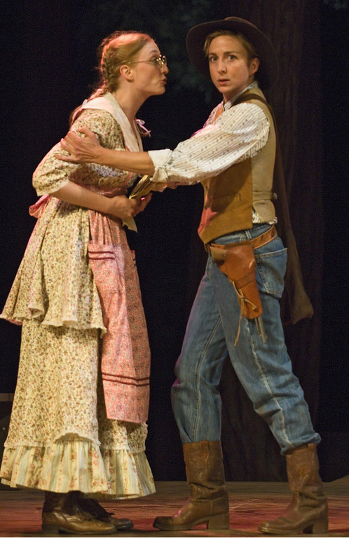 ". Mary McCool and Kate Eastwood Norris in Shakespeare Santa Cruz\'s 2006 production of ""As You Like It.\"" (Photo courtesy of Steve DiBartolomeo, SSC)"