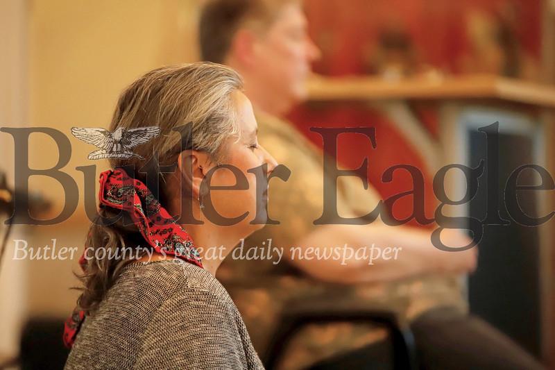 Cynthia Marshall leads a meditation session at the Maridon Museum. Seb Foltz/Butler Eagle