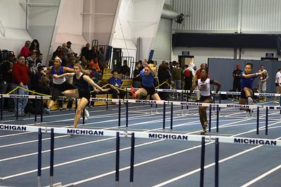 MITS Track at UM 1-17-2013 - 60 and hurdles
