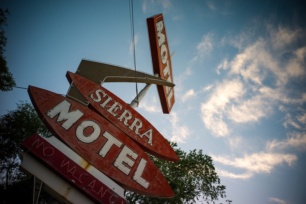. The defunct Sierra Motel is one of many that went out of business when the freeway bypassed the town of Lovelock, Nevada in the 1970\'s  The small town has been put on the map since Simpson was locked up at the Nevada Prison near town.    (Photo by David Crane/Los Angeles Daily News.)