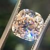 4.03ct Light Fancy Brown Antique Cushion Cut Diamond Halo Ring GIA LFB, SI1 51