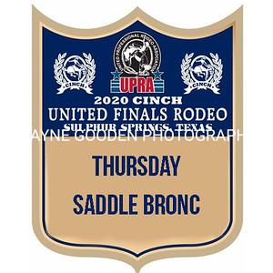 UPRA Finals Thursday Saddle Bronc