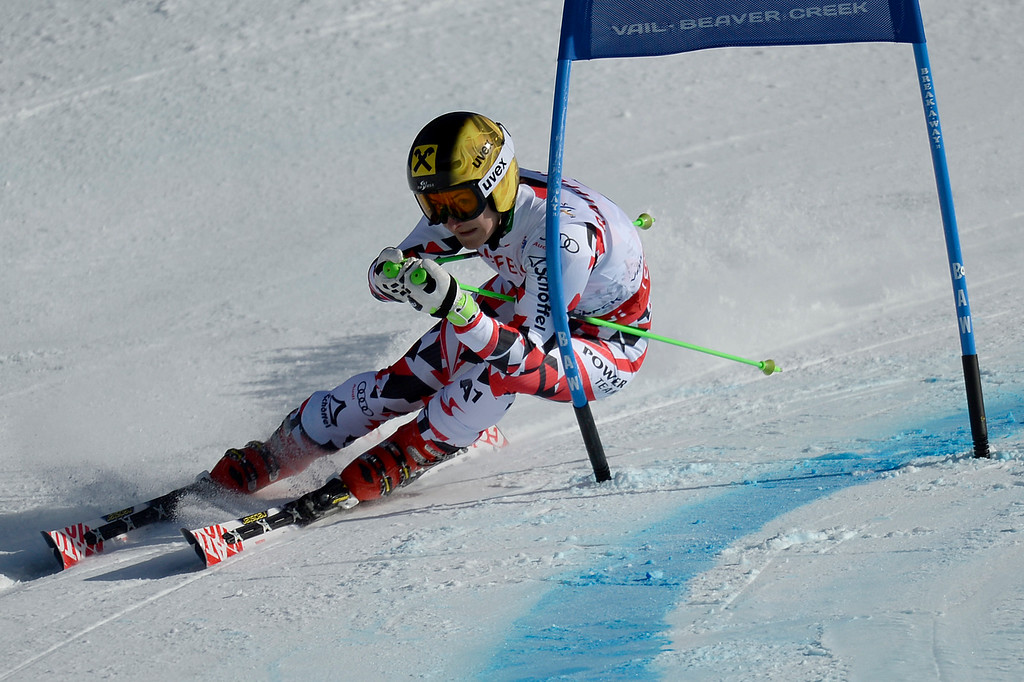 . BEAVER CREEK, CO - FEBRUARY 12: Kathrin Zettel of Austria competes during the ladies\' giant slalom. FIS Alpine World Ski Championships 2015 on Thursday, February 12, 2015. (Photo by AAron Ontiveroz/The Denver Post)